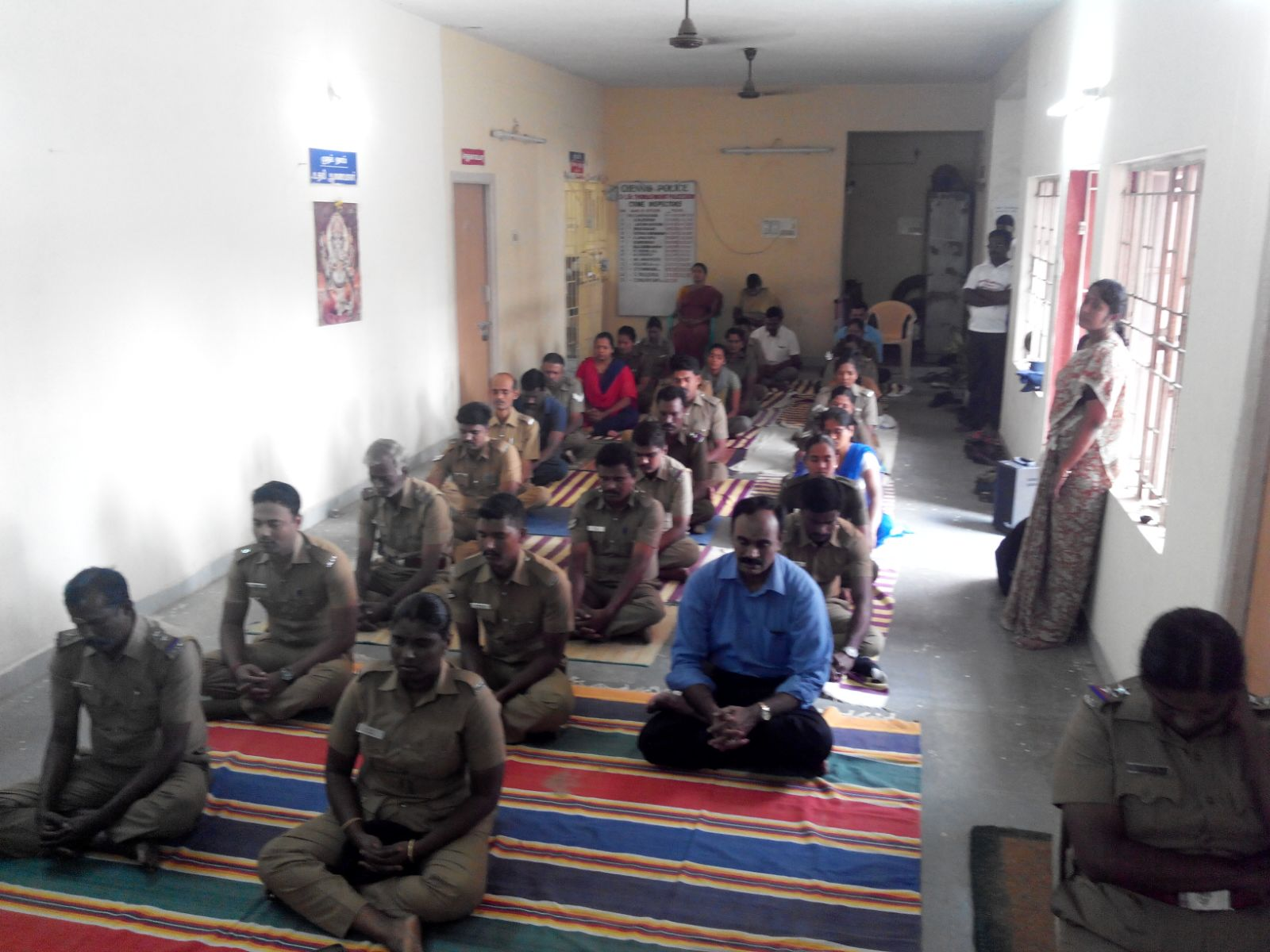 Meditation Camp for Chennai Police Personnel